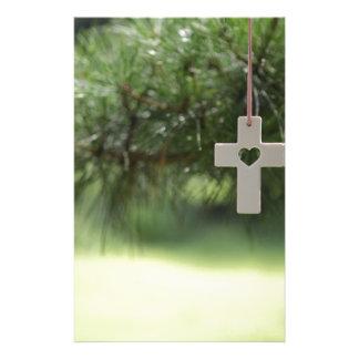 Papeterie croix et coeur