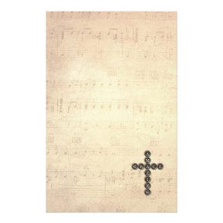 Papeterie Croix extraordinaire de grâce sur la feuille de