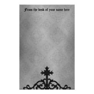 Papeterie Croix gothique de porte de cimetière