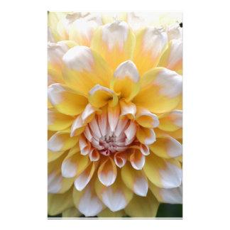 Papeterie Dahlia jaune et blanc