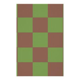 Papeterie Damier vert de Brown