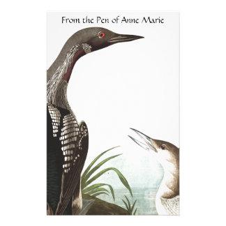 Papeterie d'animal de faune d'oiseaux de dingue