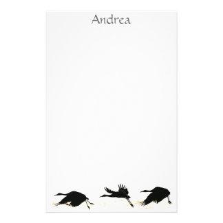 Papeterie d'animaux de faune d'oiseaux de grue