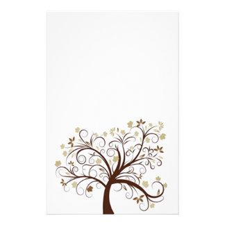 Papeterie d'arbre d'automne