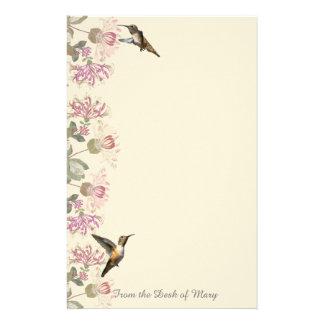 Papeterie de colibris et de fleurs de