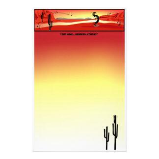 Papeterie de coucher du soleil de Kokopelli