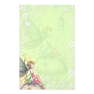 Papeterie de fantaisie féerique de fleur mignonne papier à lettre personnalisable