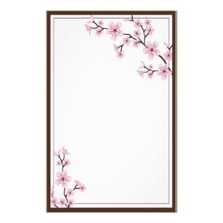 Papeterie de fleurs de cerisier