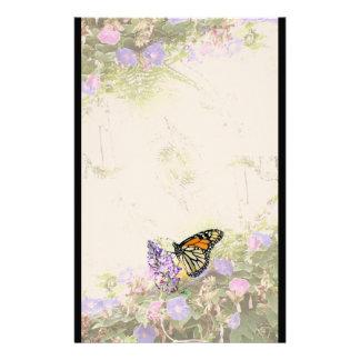 Papeterie de fleurs de papillon de monarque