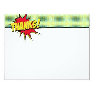 Papeterie de Merci de super héros Carton D'invitation 10,79 Cm X 13,97 Cm