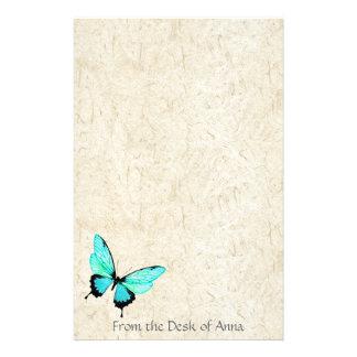 Papeterie de papier faite main de Faux de papillon