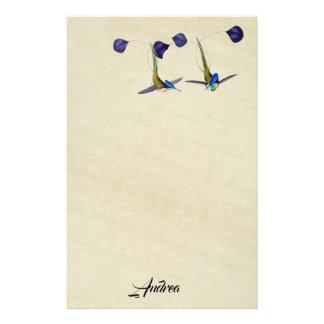Papeterie de toile d'animaux de fleurs d'oiseaux