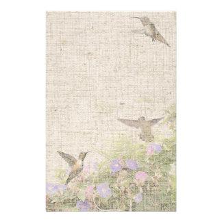 Papeterie de toile de colibri