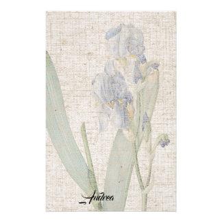 Papeterie de toile de regard de feuille de fleurs