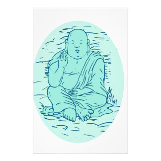 Papeterie Dessin de pose de Gautama Buddha Lotus