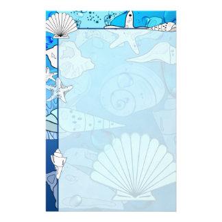 Papeterie d'océan d'Aqua de coquillages