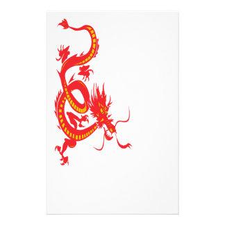 Papeterie Dragon chinois de rouge de nouvelle année