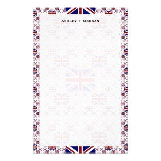Papeterie Drapeau BRITANNIQUE d'Union Jack dans les couches
