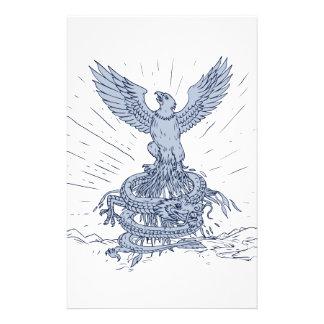 Papeterie Eagle et dessin de montagnes de dragon
