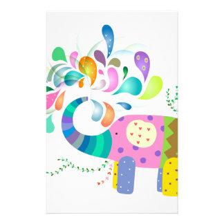 Papeterie Éclaboussement coloré d'éléphant