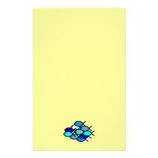Papeterie École des symboles chrétiens de poissons - bleu -