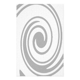 Papeterie Écoulement en spirale gris de motif de gauche à