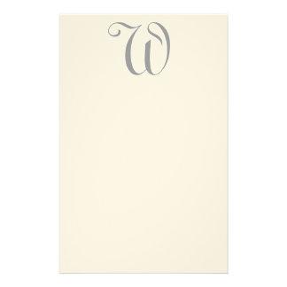 Papeterie Editable fantaisie de feutre de monogram