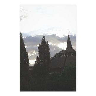 Papeterie Église de coucher du soleil