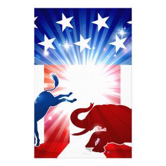 Papeterie Éléphant de combat d'âne de silhouette
