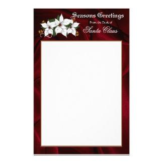 Papeterie En-tête de lettre stationnaire de Père Noël