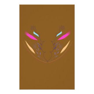 Papeterie Ethno brun d'éléments de conception