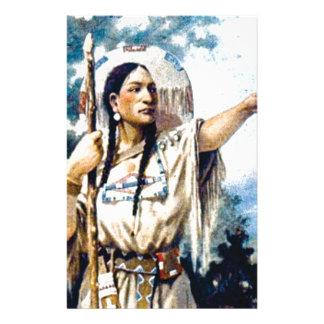 Papeterie femme indienne de squaw