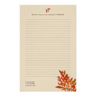 Papeterie Feuille personnel de rouge de papier à lettres de