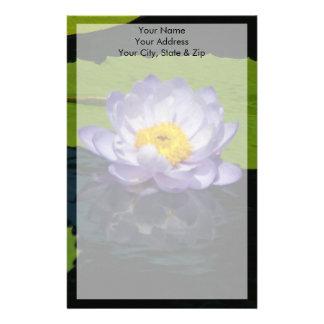 Papeterie Fleur de nénuphar de Lotus bleu de cobalt