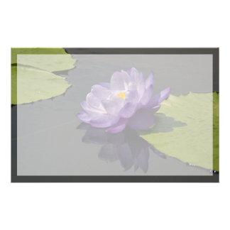 Papeterie Fleur pourpre bleue de nénuphar de Lotus