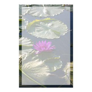 Papeterie Fleur pourpre de nénuphar de Lotus