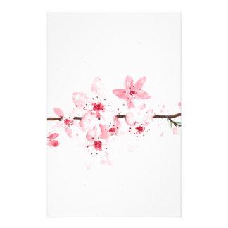 Papeterie Fleurs de fleurs de cerisier