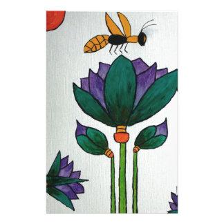 Papeterie Fleurs de Lotus avec l'abeille
