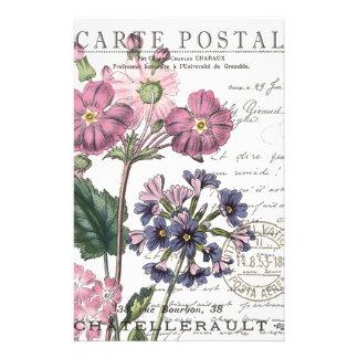 Papeterie floral français vintage moderne
