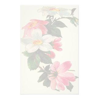 Papeterie florale vintage