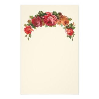 Papeterie florale vintage de feutre papier à lettre customisé