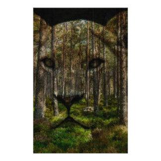 Papeterie Forêt à l'intérieur d'un tigre