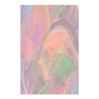 Papeterie Fractale de fleur d'arc-en-ciel
