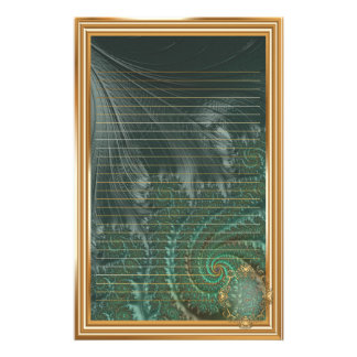 Papeterie Fractales élégantes de fantaisie avec les motifs