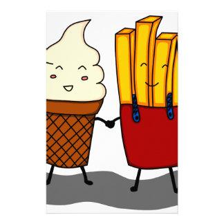 Papeterie Fritures et crème glacée