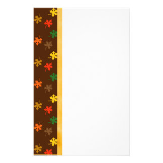 Papeterie Frontière de Brown avec de l'or vert orange