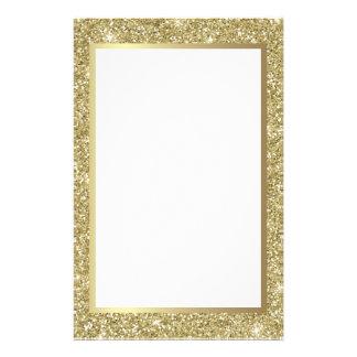 Papeterie Frontière scintillante d'or