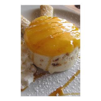 Papeterie Gâteau couvert par confiture de crème glacée