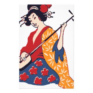 Papeterie Geisha jouant un Shamisen