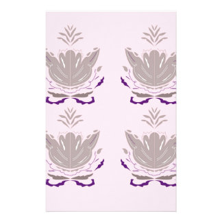 Papeterie Gris merveilleux de rose de lotus